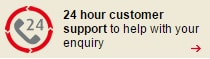 24 hour customer support to help with your enquiry whenever you need us