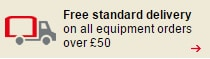 Free standard delivery on all equipment orders over £50