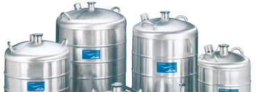 A collection of cryogenic storage vessels