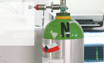 A portable cylinder of calibration gas