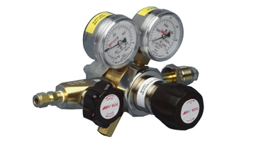 HP1700T is a two-stage, stainless steel regulator with tied diaphragm design for positive shut off, reducing the risk of overpressure on the outlet.