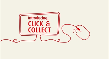 Homepage banner to be used to promote the UK's Click & Collect service
