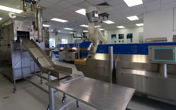 A selection of CRYOLINE cryogenic freezers inside BOC's Food Technology Centre