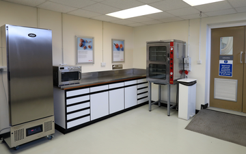 Kitchen facilities at BOC's Food Technology Centre
